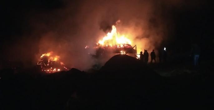 Erzurum'da alevler geceyi aydınlattı...