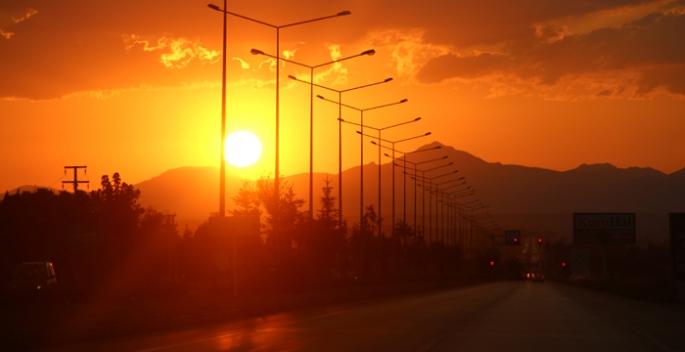 Erzurum'da büyüleyen görüntü