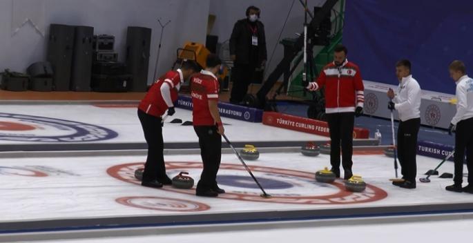 Erzurum'da Curling heyecanı devam ediyor