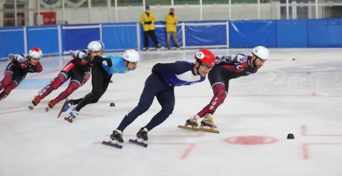 Erzurum'da short track heyecanı