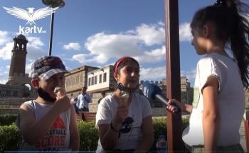 Minik muhabirler sokağın nabzını tuttu