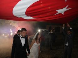 Palandöken'in zirvesinde Offroad düğün