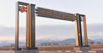 Yakutiye Belediyesi'nin giriş kapıları ödülle tescillendi